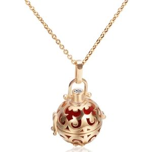 Jewelry - Gold Color Cage Angel Ball Necklace